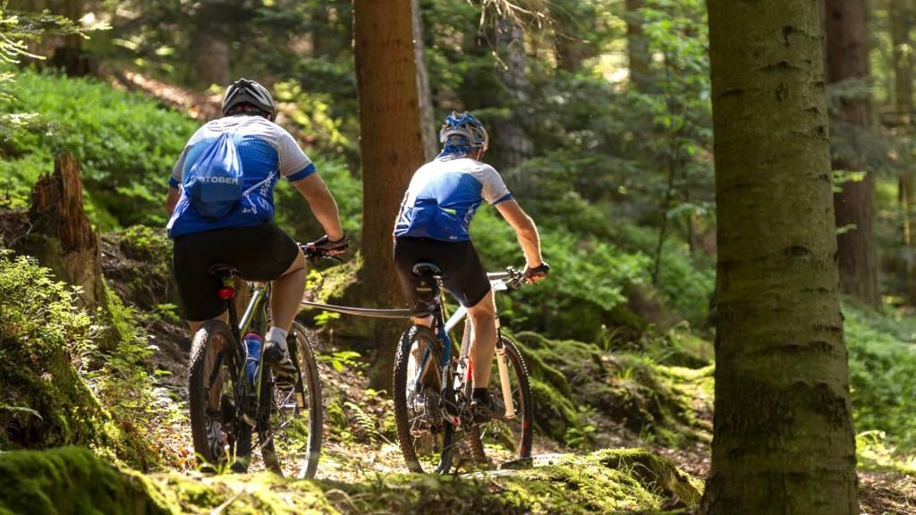 STÖBER ekip dayanışması. Dağ bisikleti birbirini çekiyor STOBER in Motion